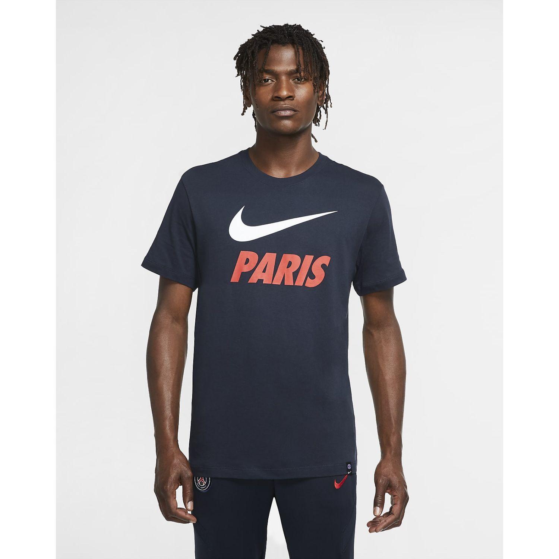 Nike Psg M Nk Tee Tr Ground Azul Camisetas y polos deportivos