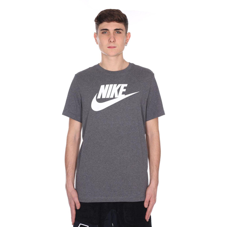 Nike M NSW TEE ICON FUTURA Plomo Camisetas y Polos Deportivos