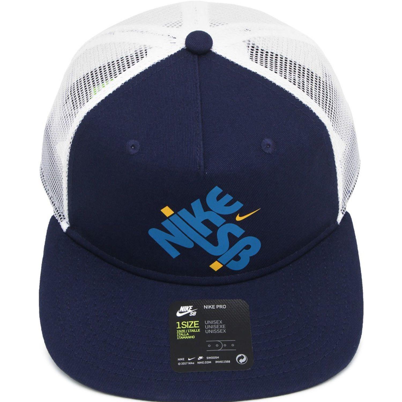 Nike U Nk Pro Cap Trucker Gfx Azul / blanco Gorros de Baseball