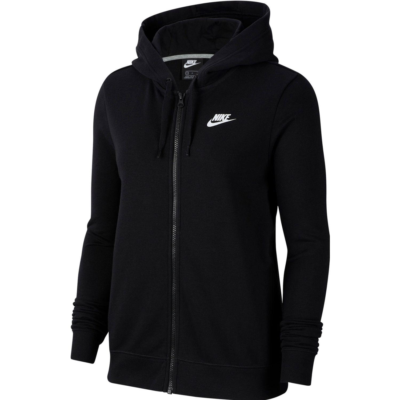 Nike W Nsw Club Hoodie Fz Ft Negro Casacas deportivas