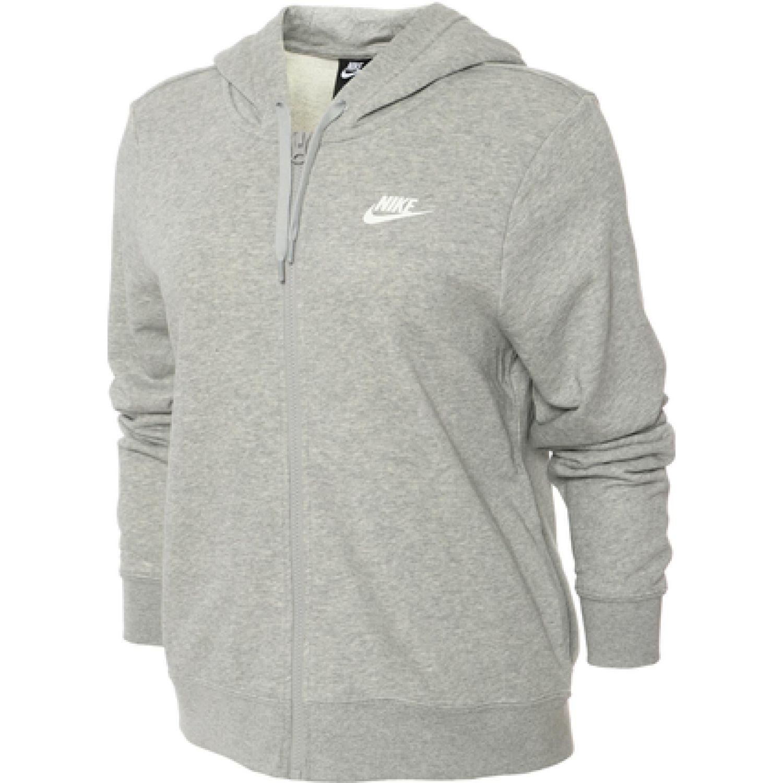 Nike W Nsw Club Hoodie Fz Ft Gris Casacas deportivas