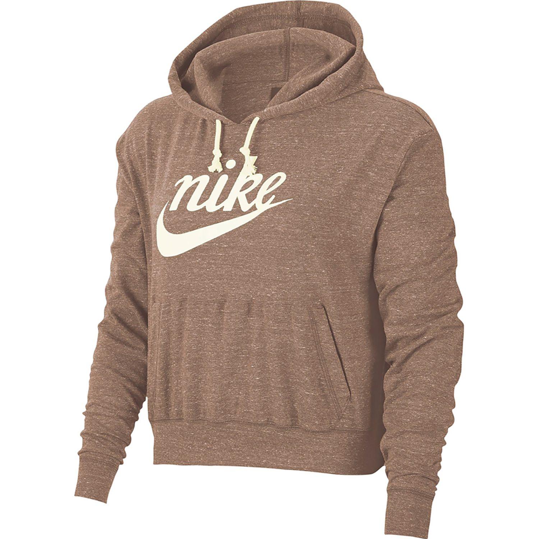 Nike W Nsw Gym Vntg Hoodie Hbr Melón Hoodies Deportivos