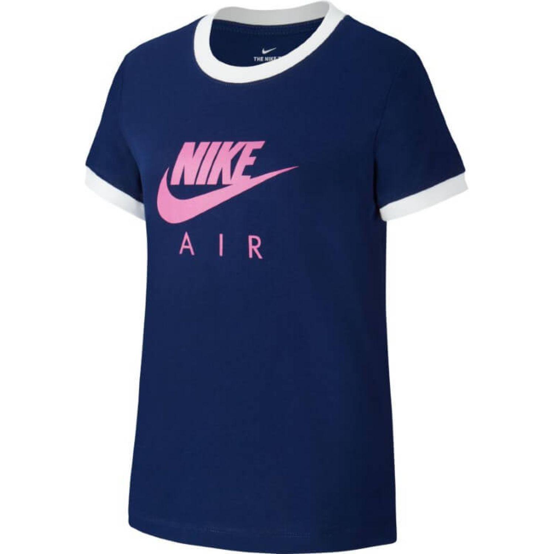 Nike G Nsw Tee Nike Air Logo Ringer Azul Polos