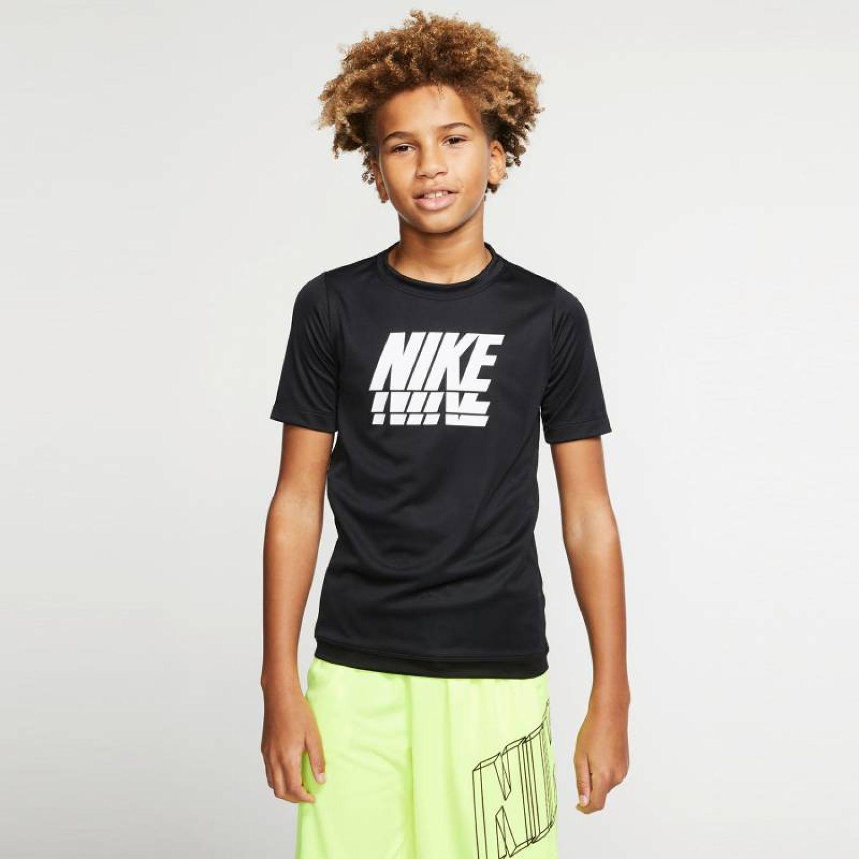 Nike B NK TROPHY GFX SS TOP Negro Camisetas y Polos Deportivos