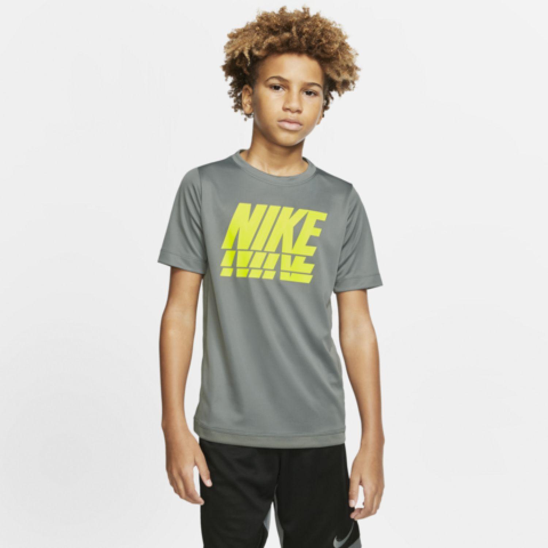 Nike B NK TROPHY GFX SS TOP Plomo Camisetas y Polos Deportivos
