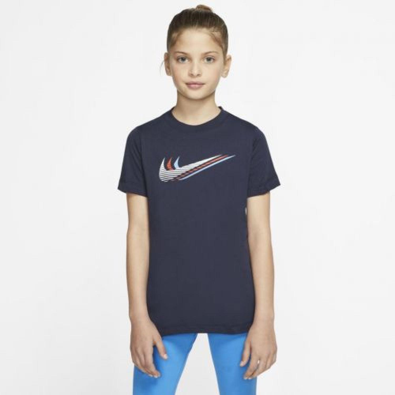 Nike U NSW TEE TRIPLE SWOOSH Azul Camisetas y Polos Deportivos