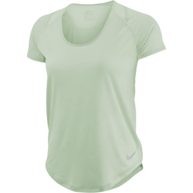 Nike W Nk 10k Top Ss Verde Polos