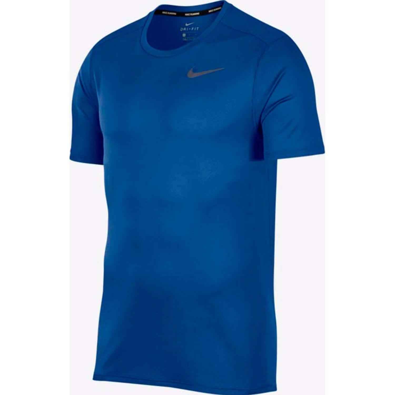 Nike M Nk Df Brthe Run Top Ss Azul Camisetas y polos deportivos