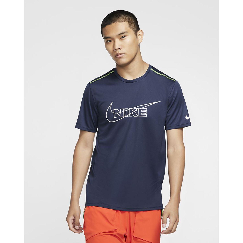 Nike M Nk Df Brthe Run Top Hbr Azul Camisetas y polos deportivos