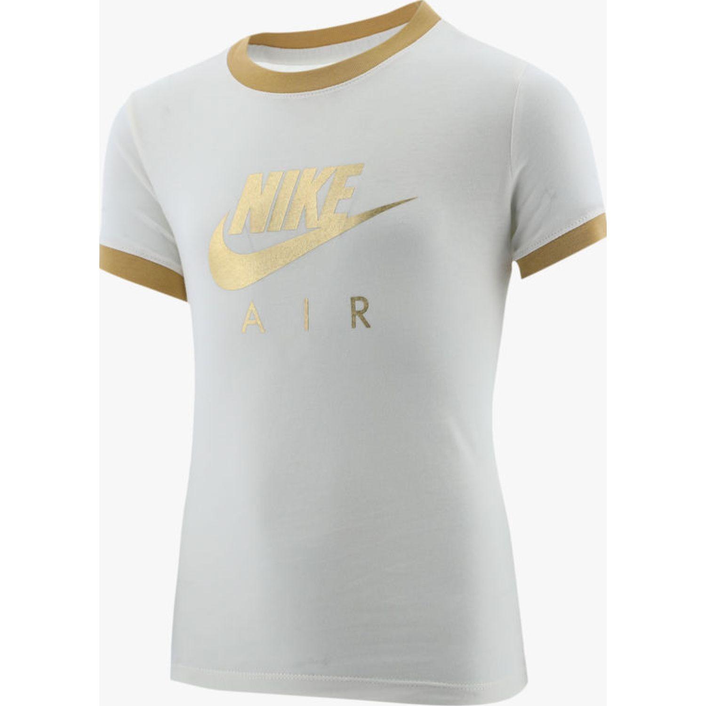 Nike G NSW TEE NIKE AIR LOGO RINGER Crema Polos