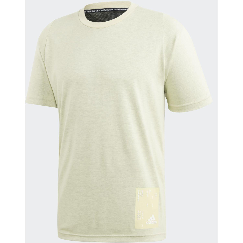 Adidas M Ins Mesh Tee Amarillo Camisetas y Polos Deportivos