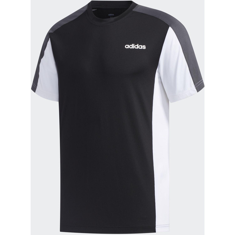 Adidas M CLIMA CB TEE2 Negro / blanco Camisetas y Polos Deportivos