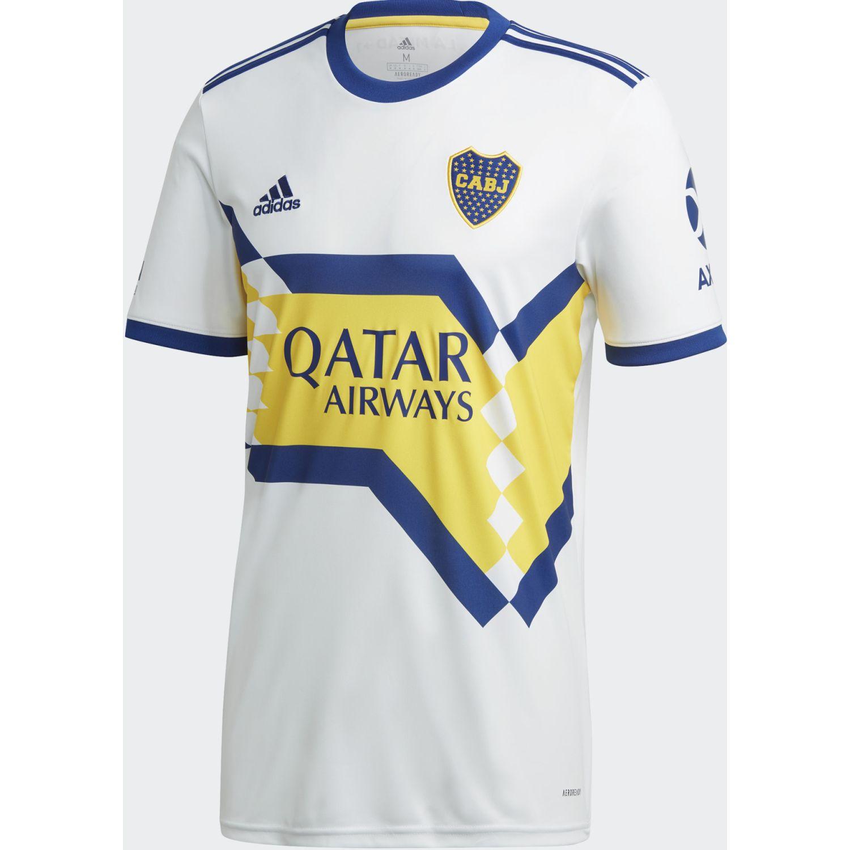 Adidas Boca A Jsy Blanco / amarillo Camisetas y polos deportivos