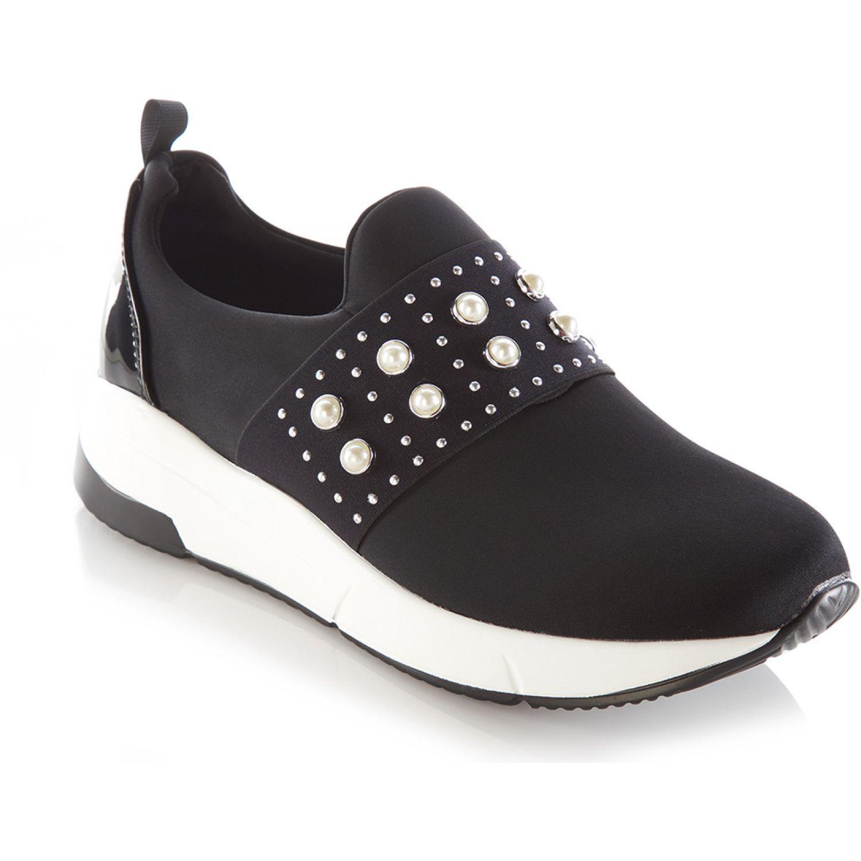 VIA UNO Tenis Niteo Negro Negro Zapatillas de moda