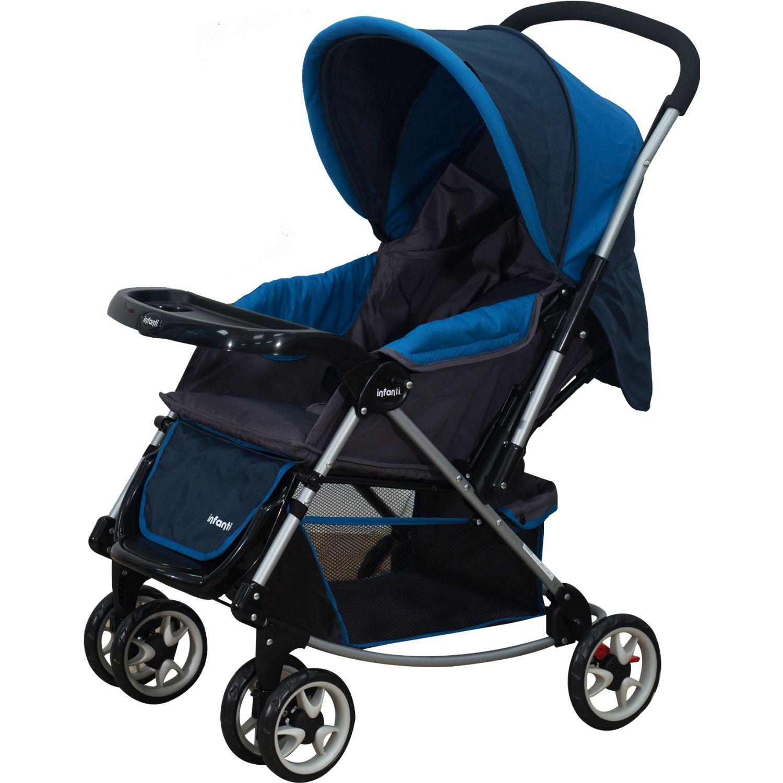 INFANTI Coche Cuna Jersey Blue 2018 Azul Cochecitos