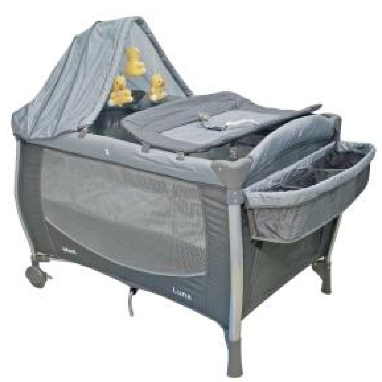 INFANTI CORRAL CUNA LUNA ZIGZAG GREY Gris Las camas de viaje