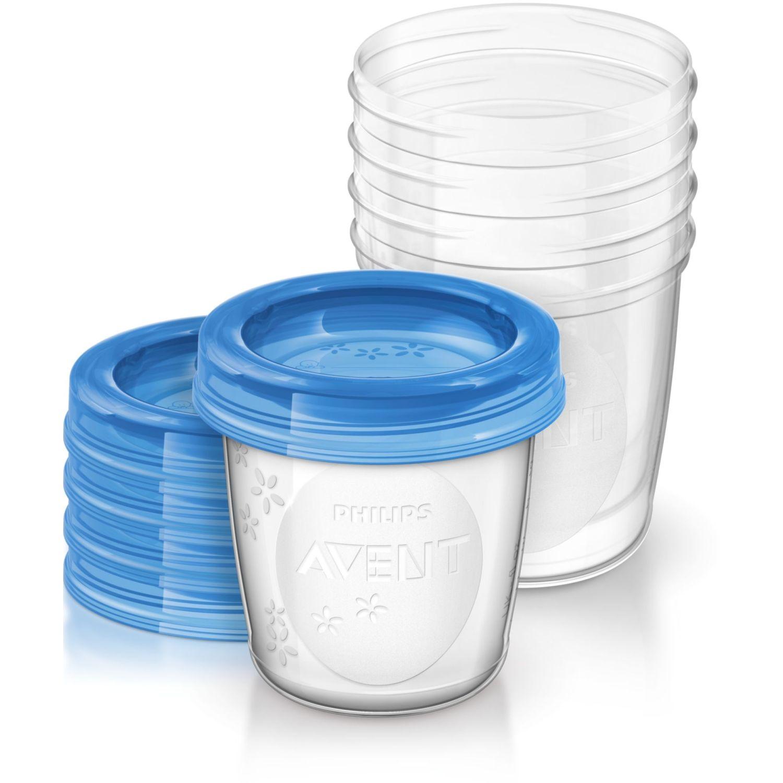 PHILIPS AVENT RECIPIENTE LECHE 180ML X 5 PCS-AVNT Azul Almacenamiento de alimentos