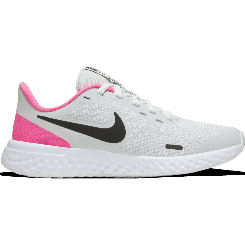 Nike NIKE REVOLUTION 5 GS Blanco / rosado Walking