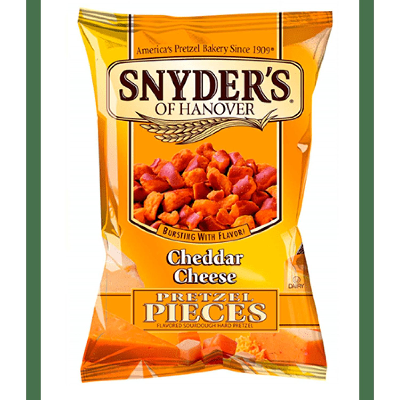 Snyder's Pretzels Trozos Sabor Queso Cheddar Sin color Pretzels