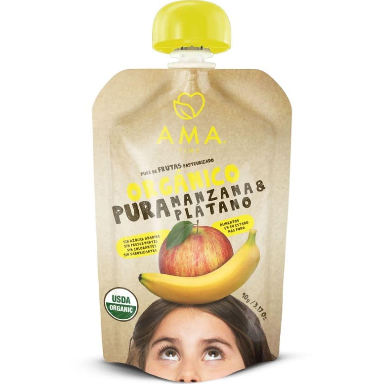 Ama Time Pure Manzana Y Plátano X 90g Sin color Copas de frutas
