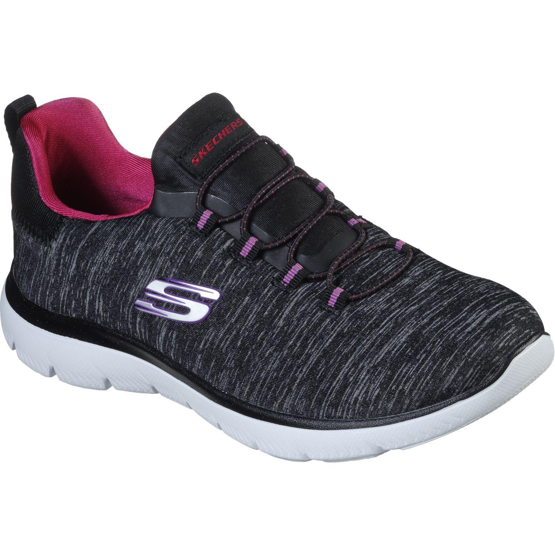 Skechers Summit Negro / rosado Correr por carretera