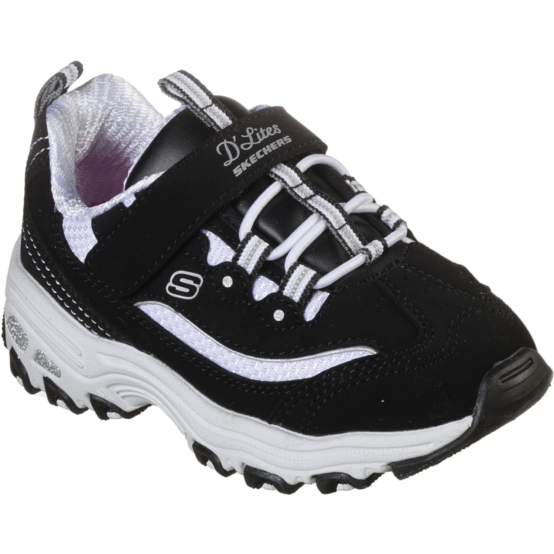 Skechers D'Lites Negro / blanco Para caminar