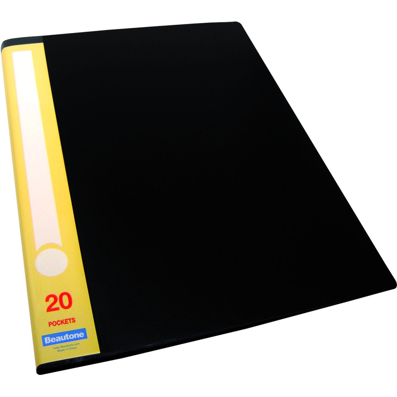 BEAUTONE File Catálogo 31785 X 20 M A4 Negro Carpeta de archivo Marcos