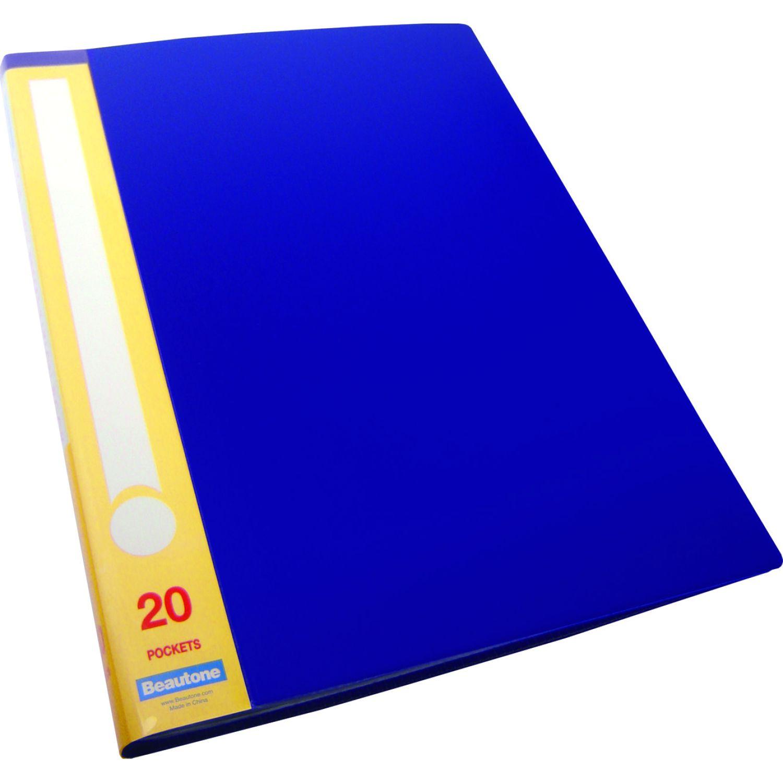 BEAUTONE File Catálogo 31785 X 20 M A4 Azul Carpeta de archivo marcos