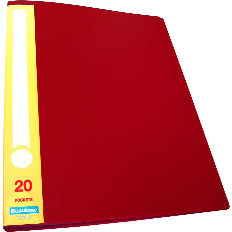 BEAUTONE File Catálogo 31785 X 20 M A4 Rojo Carpeta de archivo marcos