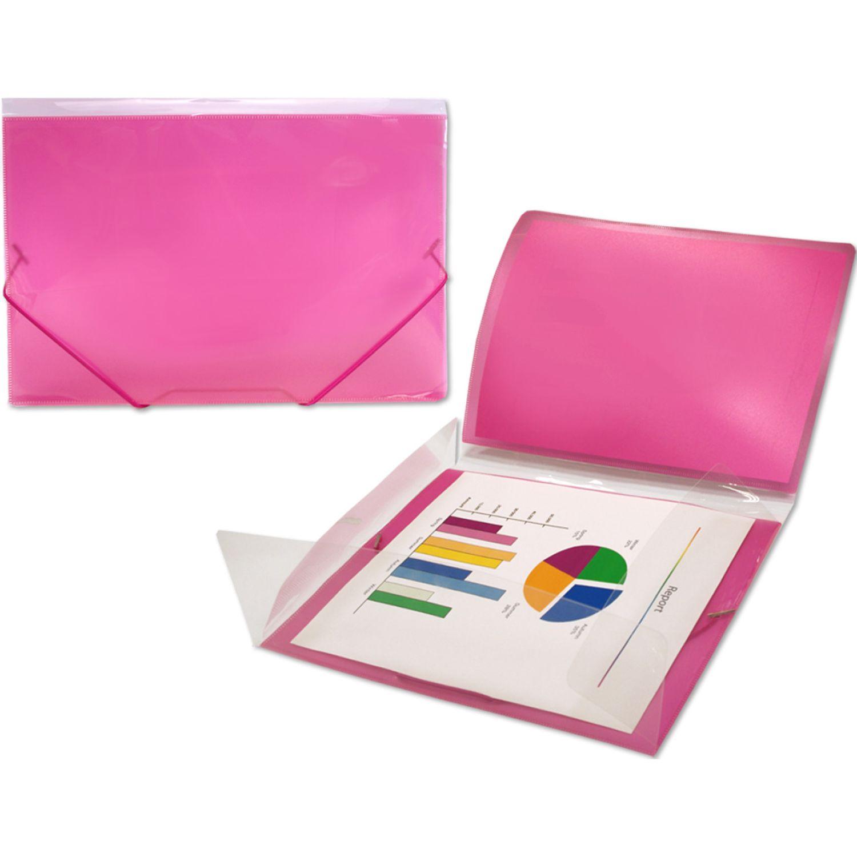 BEAUTONE Portadocumento C/Liga Cristal 38722 - A4 Rojo Documento de almacenamiento o transporte tubos