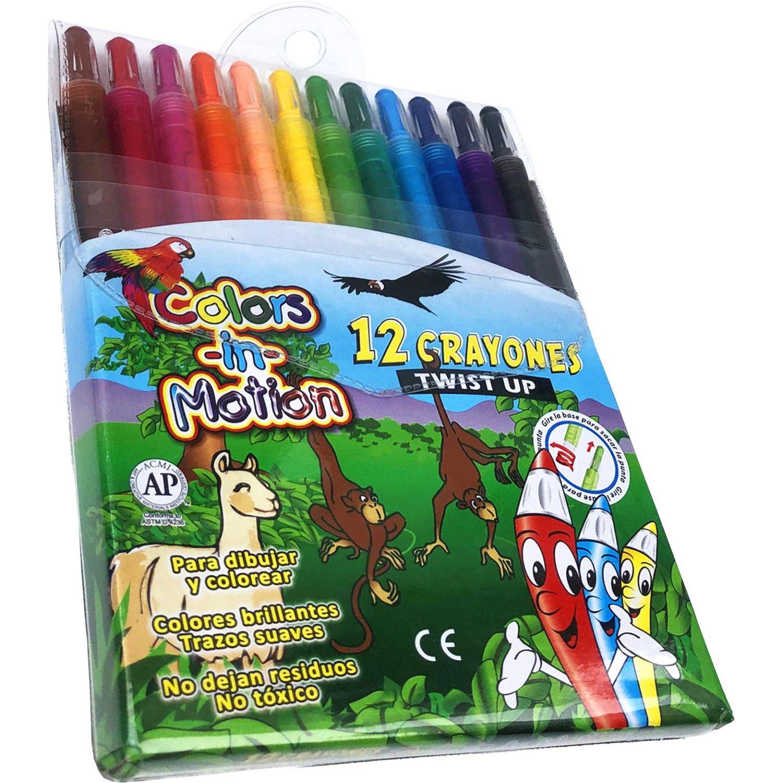 COLOR IN MOTION Crayones Jumbo X 12  Lt10-012gt Varios Crayolas