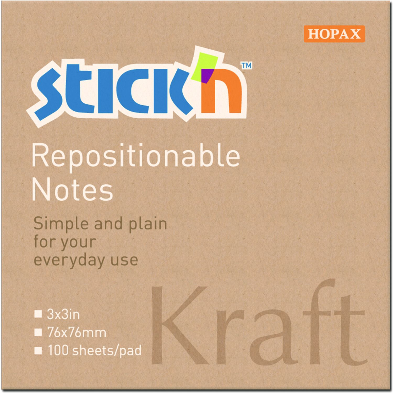 STICK N Notas Kraft 21639  3 X 3