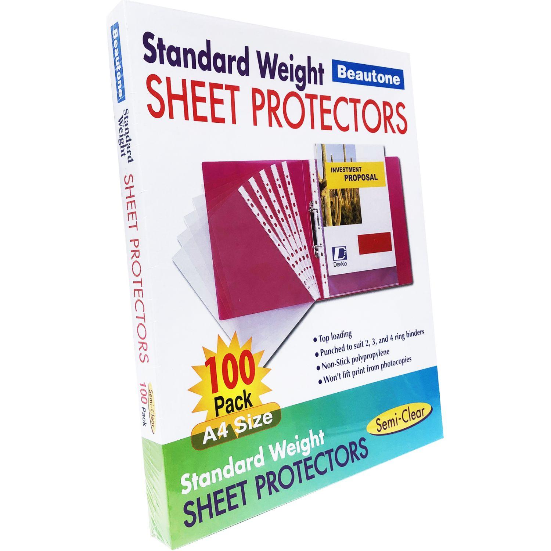 BEAUTONE MICAS PORTAP. 36003 A4-CAJA X 100 UN Transparente Protectores de hojas, Cartas y fotos mangas