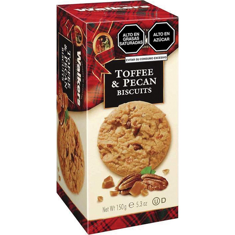 Walkers Biscuit Toffee&pecanas Cj  150gr Sin color Nuez