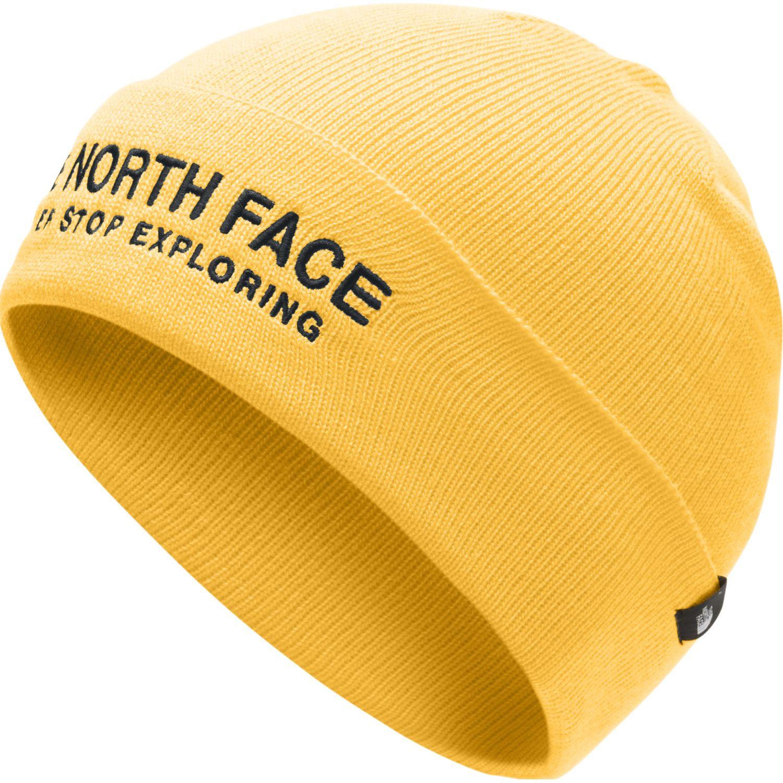 The North Face Wide Cuff Embroidered Beanie Amarillo Gorras de béisbol