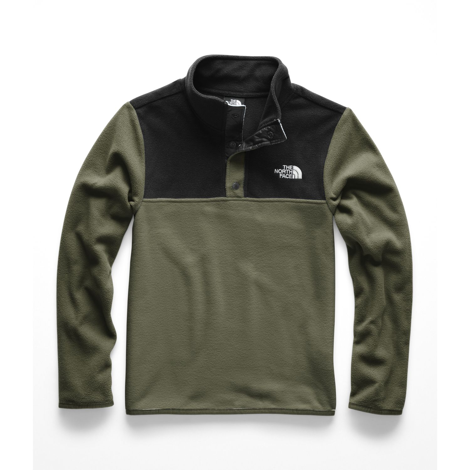 The North Face B Glacier 1/4 Snap Verde Pullover