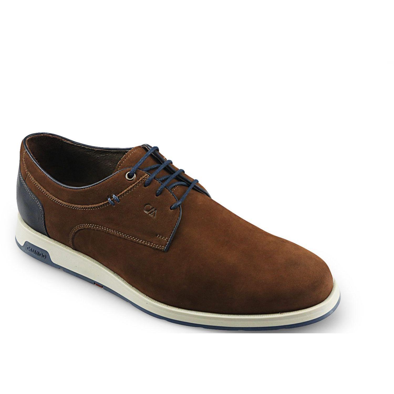 Calimod Zapato Casual Cuero Cex002tb Canela Oxfords