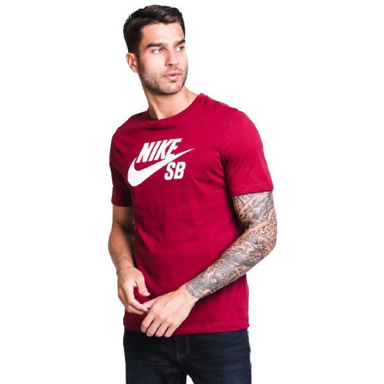 Nike M Nk Sb Dry Tee Dfct Logo Rojo Camisetas y polos deportivos