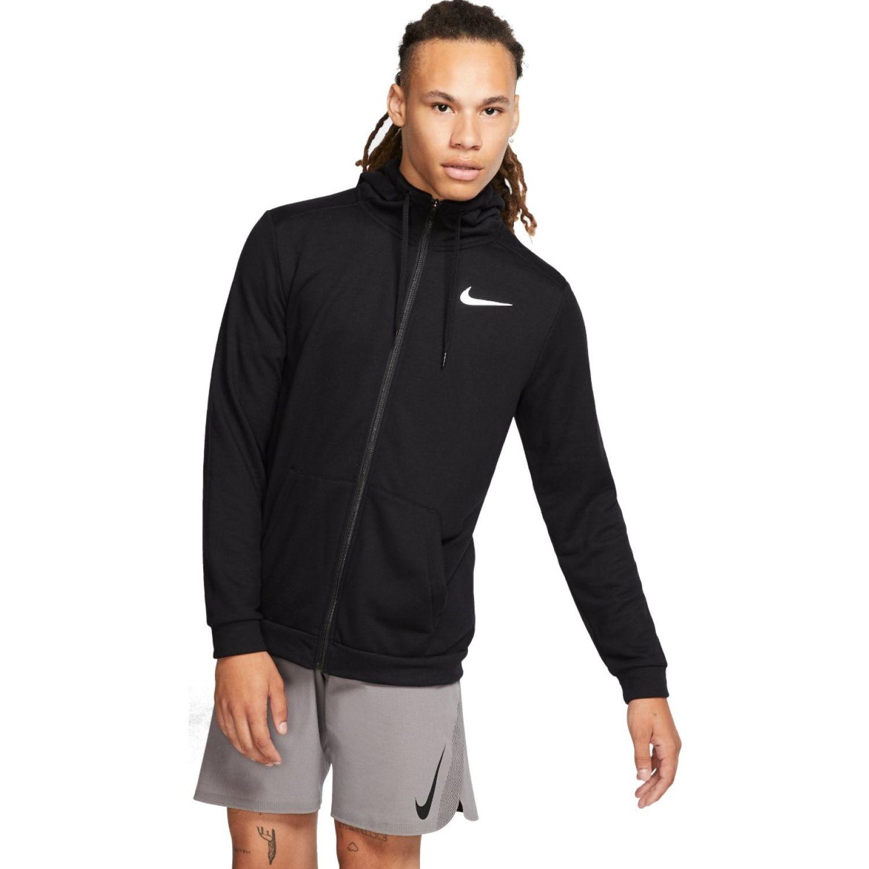 Nike M NK DRY HOODIE FZ FLEECE Negro Casacas de Atletismo