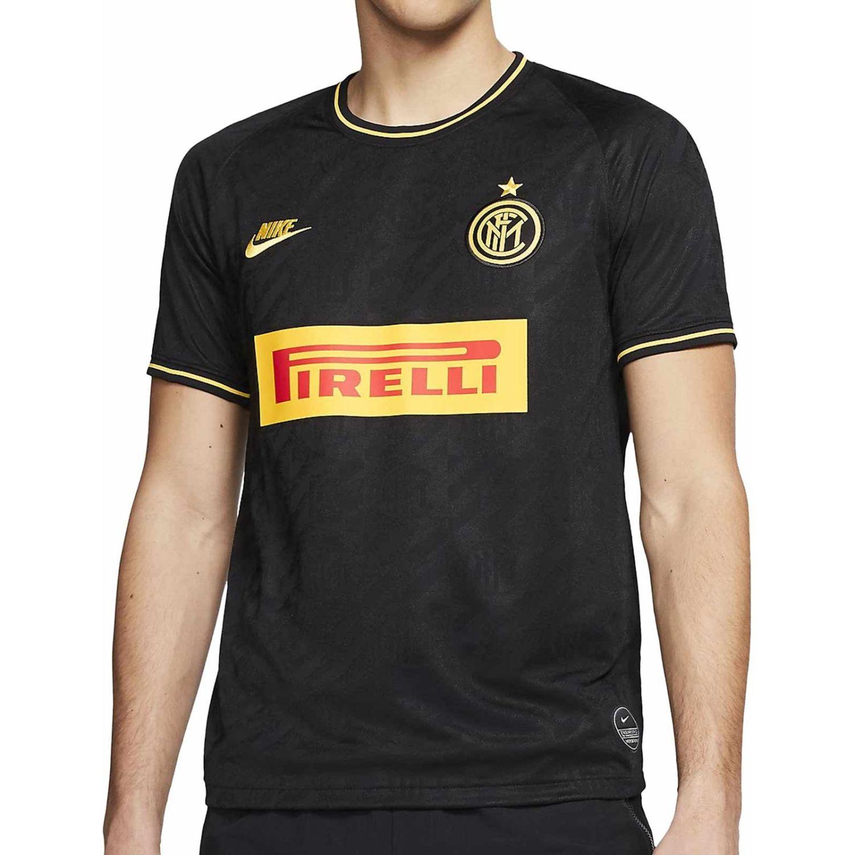 Nike Inter M Nk Brt Stad Jsy Ss 3r Negro Camisetas y polos deportivos