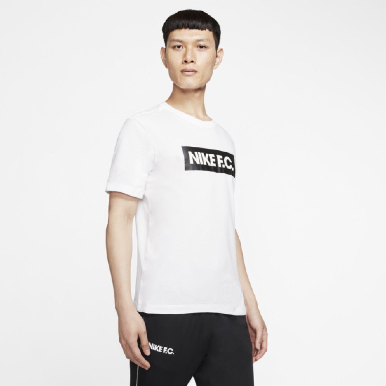 Nike M Nk Fc Dry Tee Seasonal Block Blanco Camisetas y polos deportivos