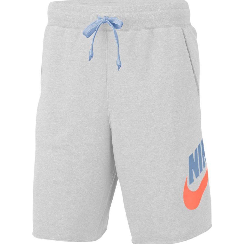 Nike M Nsw He Short Ft Alumni Gris Shorts deportivos