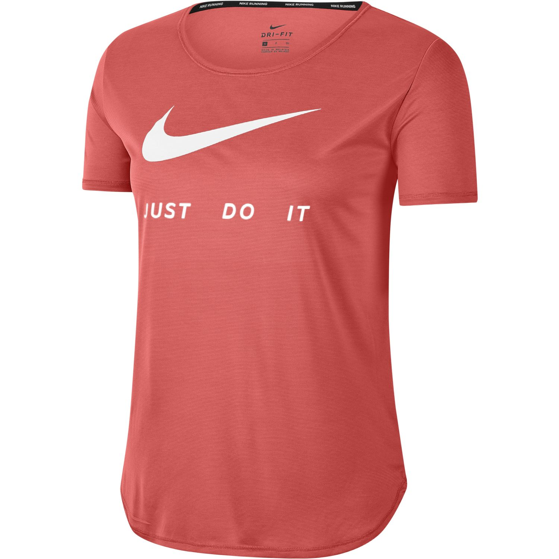 Nike W Nk Top Ss Swsh Run Coral Polos