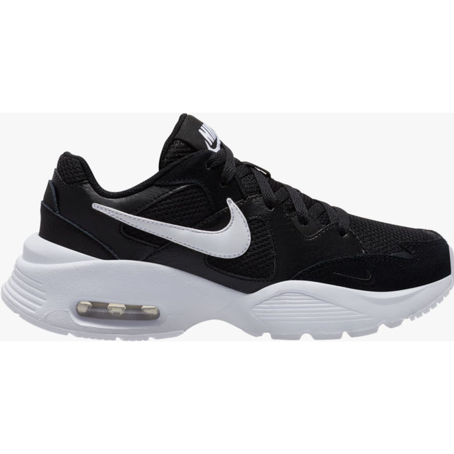 Nike WMNS NIKE AIR MAX FUSION Negro / blanco Walking