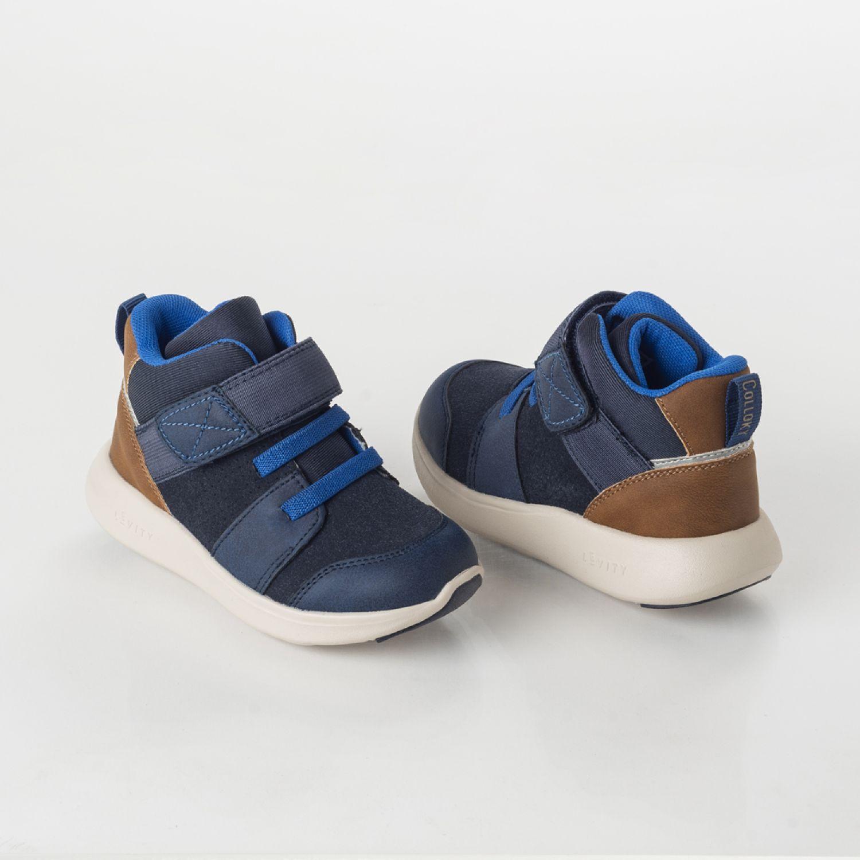 Colloky Botin Cb 44010250 Velcro Y Elástico Azul Botas