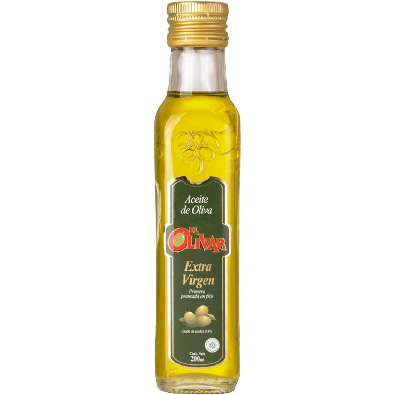 EL OLIVAR Aceite Ext. Virgen X 200ml Transparente Aceituna