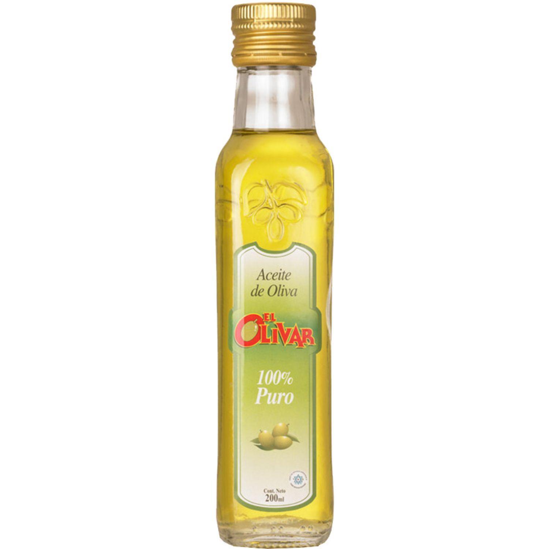 EL OLIVAR Aceite Puro 200ml Transparente Aceituna