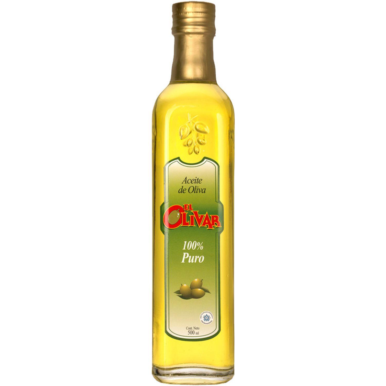 EL OLIVAR Aceite Puro 500ml Transparente Aceituna
