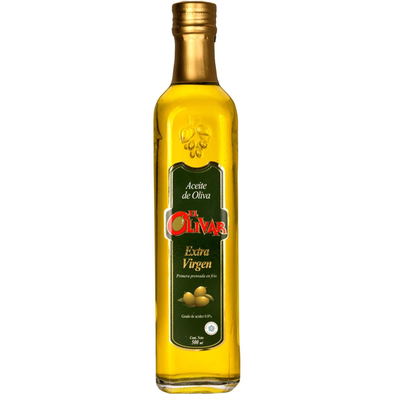 EL OLIVAR Aceite Ext. Virgen X 500ml Transparente Aceituna
