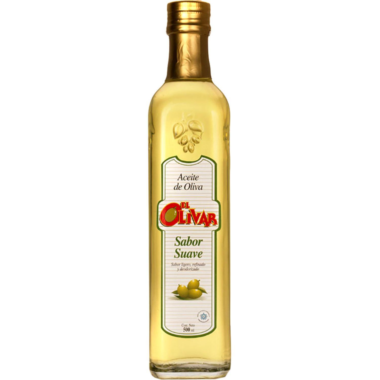 EL OLIVAR Aceite De Oliva Sabor Suave X 500ml Transparente Aceituna